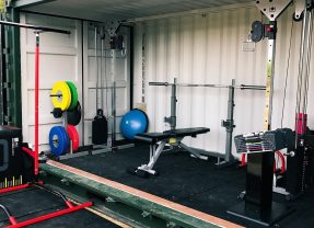 Check out this shipping container turned home gym featuring our GDCC250 Cable Crossover!
